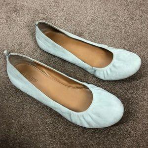 J. Crew Factory 9.5 Anya Grey Suede Ballet Flats